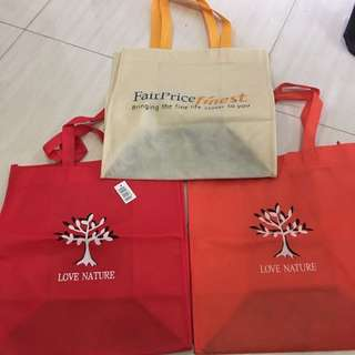 Ntuc Fairprice love nature recycle bag
