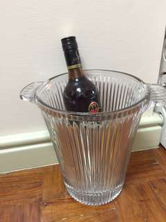 Crystal wine ice bucket