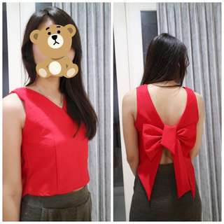 Red Ribbon Top