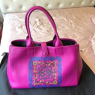 NEW Limited Edition LOEWE Fuchsia Pink Garden Tote  Bag