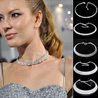 PO jewellery chain crystal choker