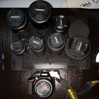 Nikon D5600 and lenses