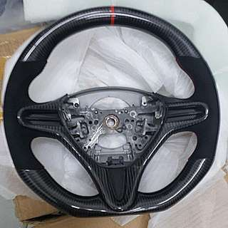 Honda steering for Civic FD Fit GE StreamRN6 in genuine carbon and alcantara suede. Not js racing spoon mugen or feels.