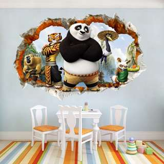 Kungfu Panda wall decal / wall stickers / home deco