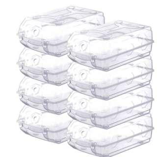 【👞👠👡👟👞加厚透明盒子鞋盒水晶收納盒防塵防潮 超值8個裝】
