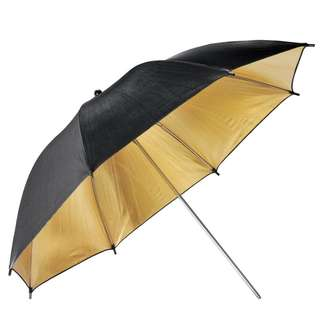 "Pxel UMBG84 33"" 84cm Black and Gold Reflective Umbrella Photography"
