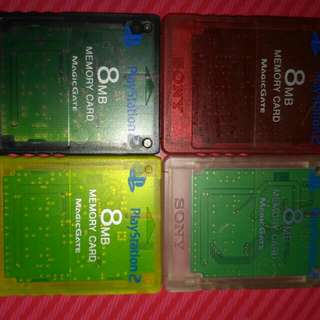二手Sony Playstation2 PS2 8MB Save Card Memory Card 記憶卡 (透明黑色)