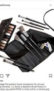 Sephora Black Brush Pouch
