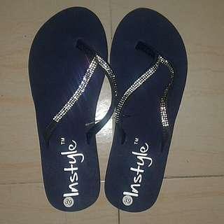 Bling platform slippers