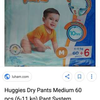 Pampers-huggies dry pants M