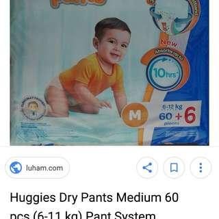 Pampers-huggies dry pants M
