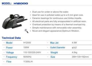 HAILEA H-12000 Pond Pump