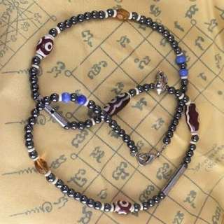 Amulet Thai Necklace Leklai Metal Bead WatBaanRai Talisman Blessed Lucky Wealthy