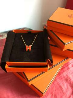 Hermes pop h necklace 頸鏈