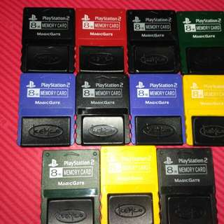 二手Sony Playstation2 PS2 8MB Save Card Memory Card 記憶卡