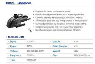 HAILEA H-18000 Pond Pump