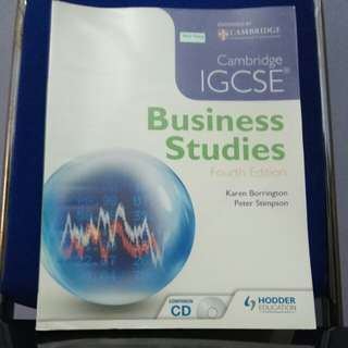 Cambridge IGCSE Business Studies 4th Edition (+CD)