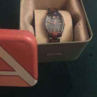 Fossil Ladies Rose Gold and Pewter Watch
