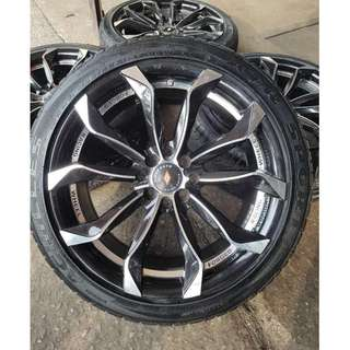 SPORT RIM 17inch USED RIM & USED TYRE 99%  GOOD CONDITION