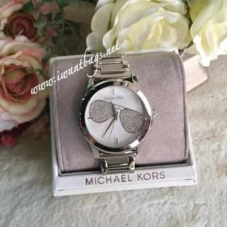 Michael Kors (MK3672) Hartman Crystal Pave Watch-Silver