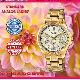 💛💛💛6折全新行貨卡西歐女装行針防水鋼錶