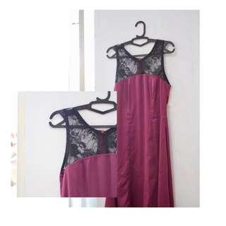 Dress ungu tile hitam