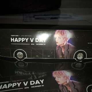 taehyung's birthday paper bus