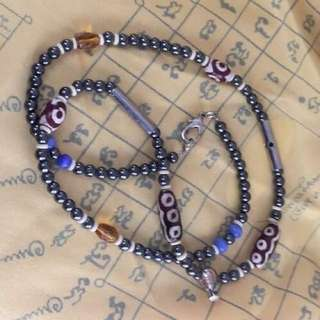 Holy Leklai beads necklace Wat Baanrai blessed Sacred good luck charm