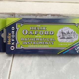 """""""LIMITED EDITION""""Helix Oxford set of mathematical instruments"""