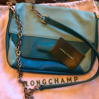 Longchamp leather chain Cross Body Bag