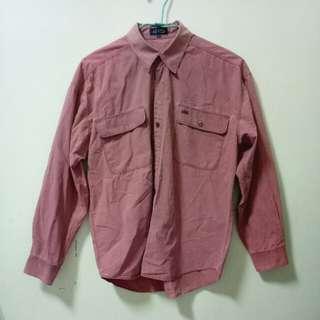 🚚 !降價!古著 復古粉紅藕粉色襯衫 (很讚ㄉ那種)