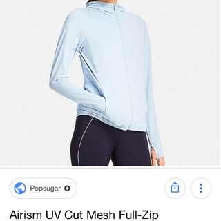 Looking for Airism UV Cut Mesh Full Zip Hoodie