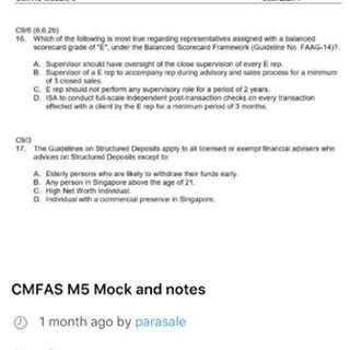 M5 M9 HI exam papers
