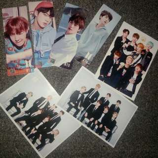 BTS POSTCARDS AND BOOKMARKS