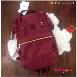 ANELLO Red Small sized Leather Backpack