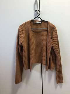 Knitted Cropped Outerwear