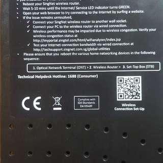 singtel Dualband Gigabit wireless router