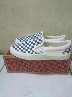 Vans Vault OG Slip-On Checkerboard Navy/white