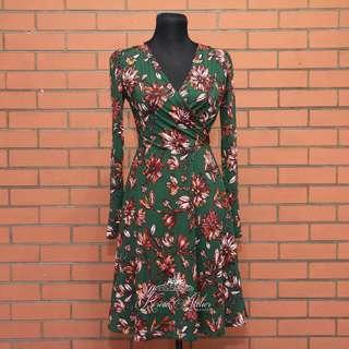 Green floral dress (KA 1039)