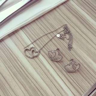 Tiffany & co earrings necklace 925