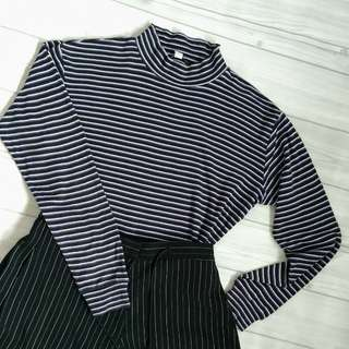 UNIQLO Striped Turtle Neck