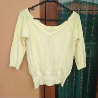 Baju Sweater Kuning