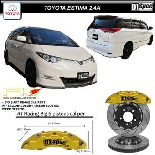 TOYOTA ESTIMA 2.4 A ACR50 - D1 SPEC FRONT BIG 6 POT BRAKE KIT
