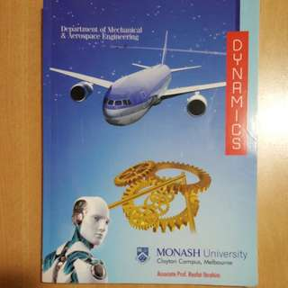 Dynamics textbook Monash University Mechanical Engineering