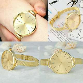 Fashionable Gold Quartz Watch