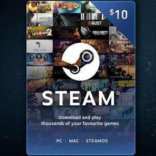 Steam wallet code $10