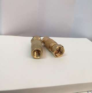 F connector adaptor 2pcs