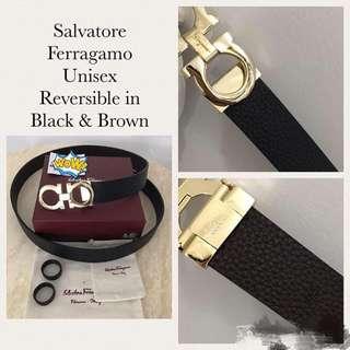Salvatore ferregamo Reversible belt unisex high end quality