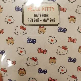 【日本代購】日本Sanrio Hello Kitty 2018年記事簿 Schedule Book