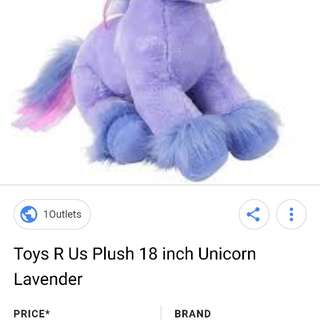 ToyRUs unicorn in purple